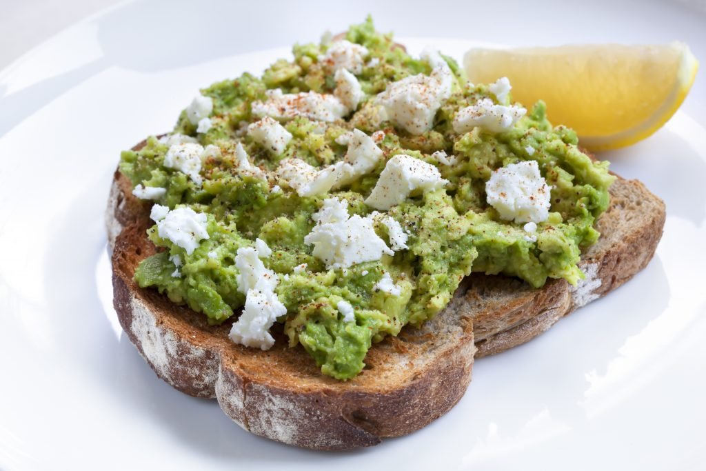 smashed avocado feta dukkah