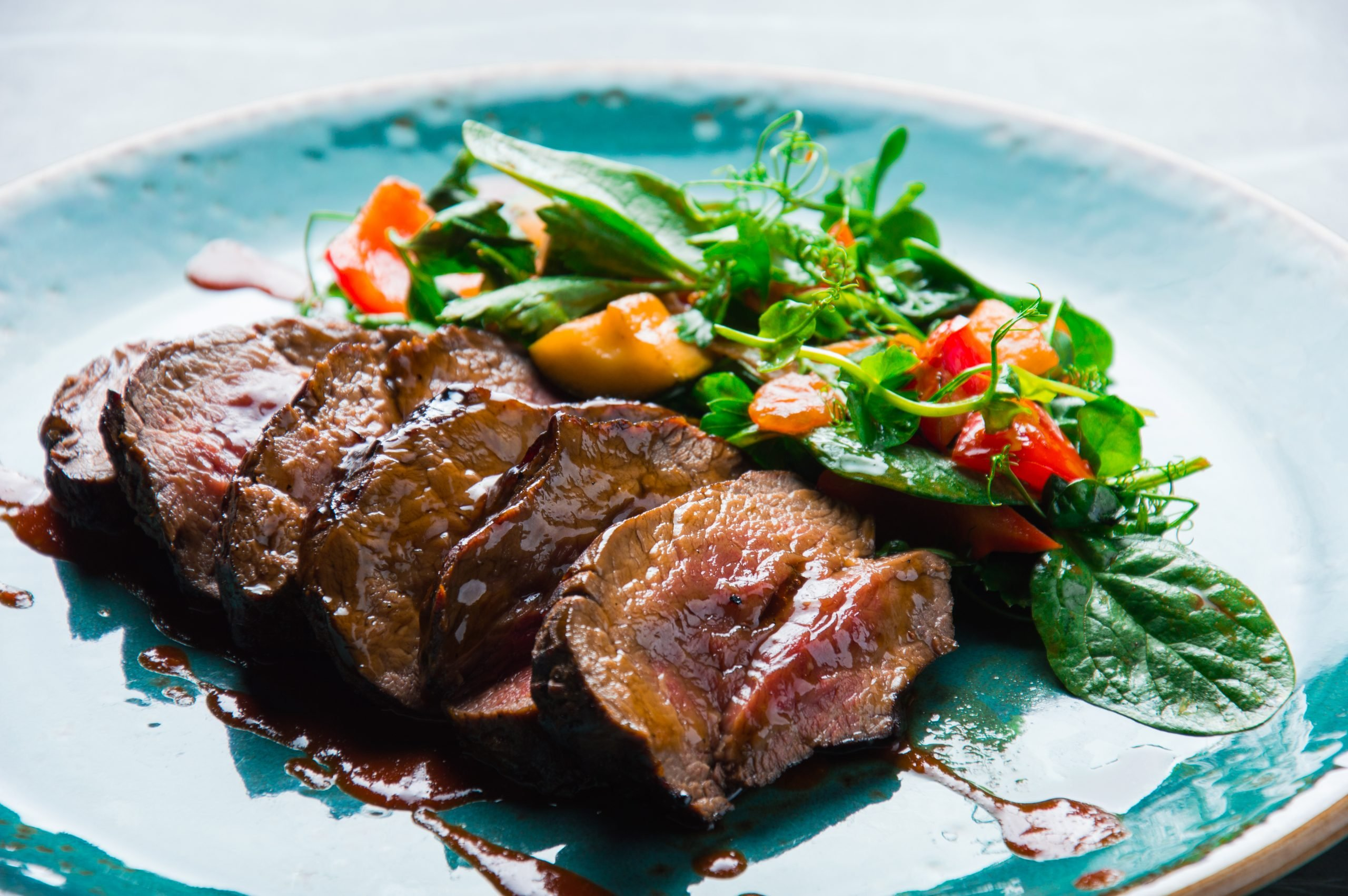 Wines and Gourmet Foods Center, BBQ steak with salad